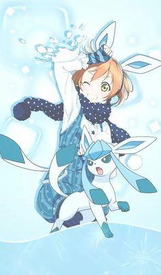 Lovelive goes pokemon glaziola Pokemon Manga, Pokemon Comics, Pokemon Human Form, Anime Chibi, Manga Anime, Anime Crossover, Pokemon Cosplay, Cute Animal Drawings, Cute Drawings