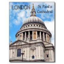 London England St Paul's Cathedral Postcard
