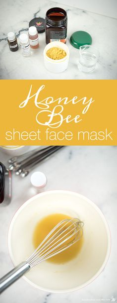 Honey Bee Sheet Face Mask - Humblebee & Me Diy Turmeric Face Mask, Honey Face Mask, Tumeric Face, Turmeric Tea, Homemade Face Masks, Diy Face Mask, Diy Sheet Mask, Mascarilla Diy, Chocolate Face Mask