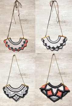 Knitted necklaces - not a diy but great inspiration