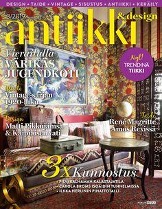 Antiikki & Design kansi 3/2019. Kuva Jaanis Kerkis.