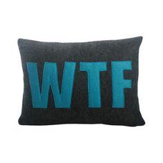 Modern Lexicon WTF Lumbar Pillow