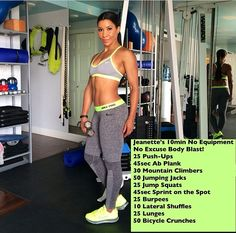 Jeanette Jenkins workout without equipment try it out!