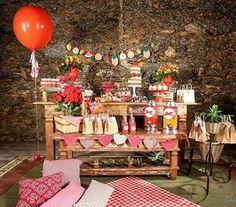 Festa Picnic muito linda, adorei! @imaginafestaslocacoes ❤️ #kikidsparty