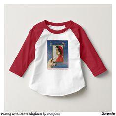 Posing with Dante Alighieri toddler T-Shirt from ZoeSPEAK