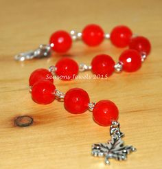 Orange Gemstone Bracelet by SeasonsJewels on Etsy