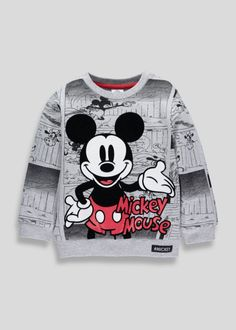 Little Mickey fans will love this retro sweatshirt, designed with a flocked Mickey Mouse cartoon print and branding. Long sleeves and a ribbed neckline will keep them feeling super comfortable. Mickey Mouse Outfit, Mickey Mouse Cartoon, Mickey Y Minnie, Mickey Mouse Sweatshirt, Winter Baby Boy, Retro Sweatshirts, Matalan, Disney Style, Boy Outfits