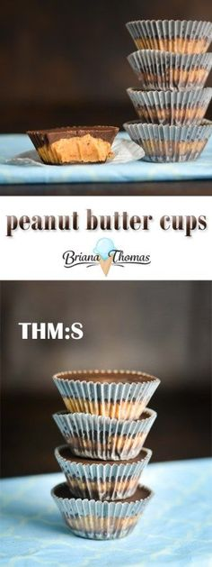 These yummy peanut butter cups are easy to make and only take a few ingredients!  They're a healthy, low glycemic take on my favorite: Reese's Cups.  THM:S, low carb, sugar free, gluten free, egg free, dairy free