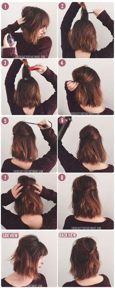 penteado fofo para cabelo curto