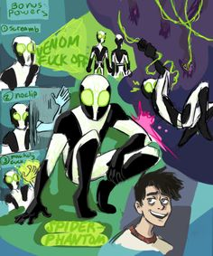 had fun making this neat ghost-themed spidersona :) Spider Art, Spider Verse, Cartoon Tv, Cartoon Shows, Ben 10, Different Drawing Styles, Phantom Comics, Invader Zim Characters, Randy Cunningham