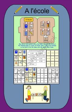 L�cole file folder game pdf from Teaching The Smart Way on TeachersNotebook.com -  (8 pages)  - L'�cole file folder game and activities