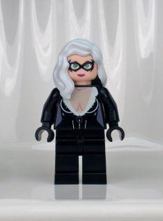 B236 Lego Super Hero Girl CUSTOM INSPIRED BLACK CAT MINIFIG Batgirl Batman Robin Lego Animals, Lego Boards, Lego Minifigs, Hey Jude, Lego Toys, Lego Figures, Hero Girl, Lego Photography, Lego Super Heroes