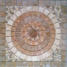 Tumbled Travertine Indoor or Outdoor Floor or Wall Art Medallion / Mosaic By: Stone Deals Stone Deals http://www.amazon.com/dp/B010U78D1U/ref=cm_sw_r_pi_dp_N4zUvb0R05FZW