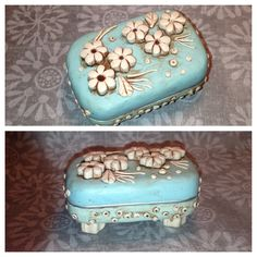 Polymer clay covered altoid tin. - SK: I have so many tins, and this is one of the cuter ideas I have seen for them.