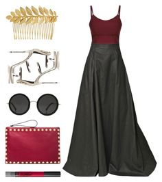 """""""Untitled #99"""" by ouchm4rvel ❤ liked on Polyvore featuring Gareth Pugh, Valentino, The Row, Maybelline, Giuseppe Zanotti, Ellen Hunter, women's clothing, women's fashion, women and female"""
