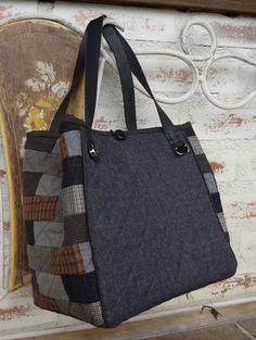 Bolsa em lã Tote Bag, Bags, Fashion, Tejido, Love, Projects, Crafts, Dime Bags, Handbags