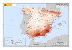 MAPA DE PELIGROSIDAD SÍSMICA EN ESPAÑA / http://www.ign.es/ign/main/index.do