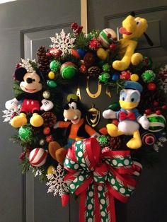 Christmas wreath disney christmas wreath mickey minnie christmas diy disney christmas decorations christmas home decoration solutioingenieria Choice Image