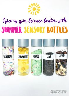 Reignite Children's Interest in Science with FUN Summer Sensory Bottles for Kids Sensory Bags, Baby Sensory, Sensory Activities, Infant Activities, Preschool Activities, Sensory Play, Sensory Bottles For Toddlers, Sensory Bottles Preschool, Sensory Table