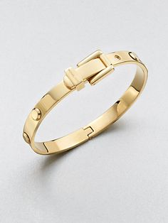 Michael Kors - Rivet-Accented Buckle Bangle Bracelet/Goldtone - Saks.com