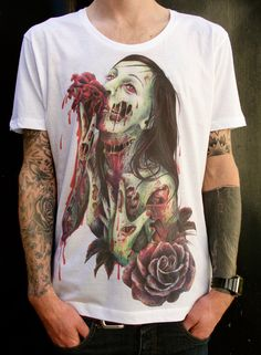 MENS TShirt Zombie S/M/L/XL by wengergirl on Etsy, $36.00
