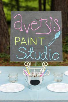 Neon Watercolor Birthday Party