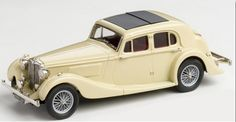 Brooklin Models Lansdowne 1/43 scale model of the 1939 MG SA Saloon diecast in white metal with photo-etched details.