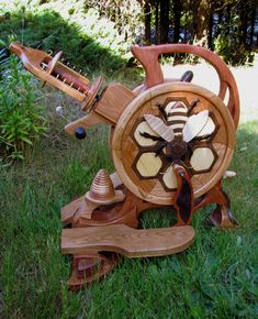 Olympic Spinning Wheels - Bee wheel