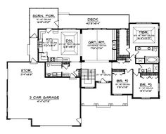 branhill craftsman style home - Simple Floor Plans