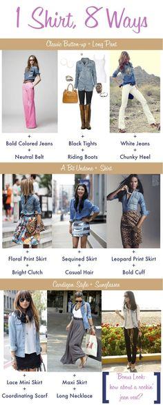 8 ways to wear a denim shirt