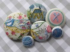 sweet little embroidered buttons