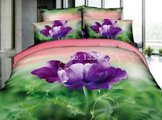 Find More Bedding Sets Information about Newest Sophisticated lonly purple flower 3D bedding set for sale,High Quality Bedding Sets from Amymoremore mall on Aliexpress.com