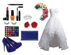 """""""Colorful bride"""" by sarah-mathews-1 on Polyvore featuring Stila, Bling Jewelry, Laura Geller, OPI, Allurez and Noee"""