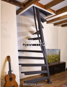 EeStairs is renowned for bespoke design, but did you know that we have a compact standard staircase available for limited space locations? The by EeStairs® is designed to suit situations where space is at a premium, such access to a loft room. Home Stairs Design, Home Building Design, Interior Stairs, House Ladder, House Stairs, Standard Staircase, Spiral Staircase, Attic Staircase, Staircase Ideas