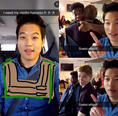 First day of The Scorch Trials press conference in Californis - this is Ki Hong Lee's snapchat (Minho)! Looks amazing and Minewt is visible!