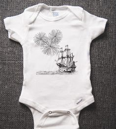 Sailing Ship Organic Infant Bodysuit | Gifts Babies & Kids | MicroThreads | Scoutmob Shoppe | Product Detail