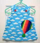 Flying Through Happy Clouds - Baby Dress - Size 0-3 Months #handmade #thecraftstar