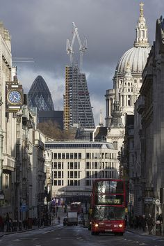 Looking down Fleet Street in London at St Pauls.Made by Lumberjack_London (flickr)