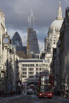 Looking down Fleet Street in London at St Pauls.Made by Lumberjack_London (flickr)