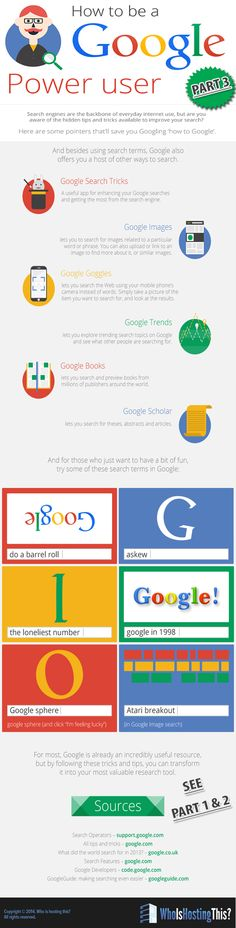 How to use Goggle more effectively. PART 3  For more marketing tips visit www.socialmediabusinessacademy.com Google Infographic