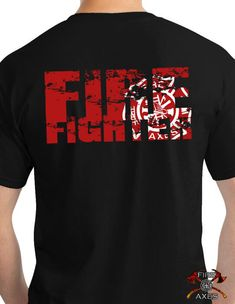 The Distressed Firefighter Shirt simply reads Firefighter on the back. This is a simple word, it describes an occupation, but it says much much more.