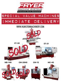 Better hurry only a few machines left for immediate delivery with special value year end pricing! Contact Humston Machinery for more details. www.humstonmachinery.com