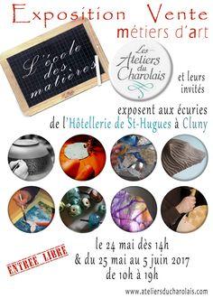 Exposition-vente métiers d'art par Les ateliers du Charolais du 25 mai au 5 juin à Cluny : http://clun.yt/2qObgUI