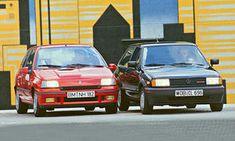 Vergleich: Renault Clio 16V vs. VW Polo G40 Coupe - Dampfhämmer: 135 PS werken im Renault Clio 16V, der VW Polo G40 wird dank Kompressor von 113 PS beflügelt