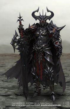 Knight of Darkness, namho baek on ArtStation at https://www.artstation.com/artwork/zmxVQ