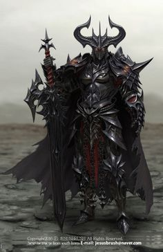 Knight of Darkness, namho baek on ArtStation at https://www.artstation.com/artwork/zmxVQ                                                                                                                                                                                 More