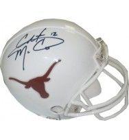 Colt McCoy signed Texas Longhorns Replica Mini Helmet #12- McCoy Hologram