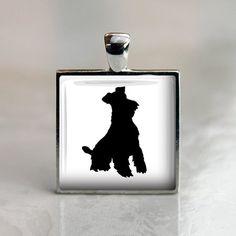 Miniature Schnauzer Silhouette Dog Pendant
