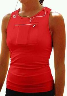 Work out shirt! Pocket for your iPod  ^haha I do this the ghetto way.. aka placing it in your sport bra with your girls