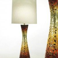 vladimir kagan dreyfuss lamp glass tile